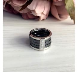 Серебряное кольцо SilverBreeze с керамикой (1765029) 16.5 размер