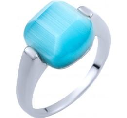 Серебряное кольцо SilverLine с кошачим глазом (1802984) 17.5 размер