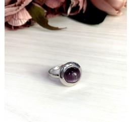 Серебряное кольцо SilverBreeze с кошачим глазом (1803028) 18 размер