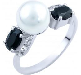 Серебряное кольцо SilverBreeze с натуральным , сапфиром (1823996) 17 размер