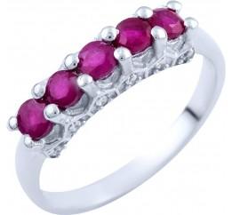 Серебряное кольцо SilverBreeze с натуральным рубином (1824283) 18 размер