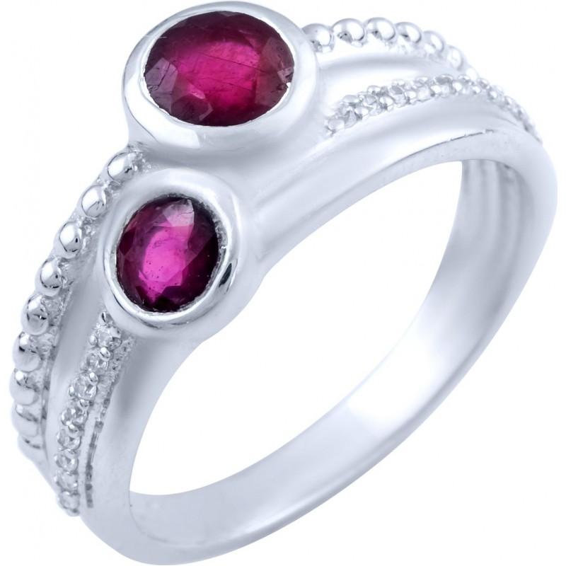 Серебряное кольцо SilverBreeze с натуральным рубином (1825648) 17 размер