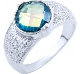 Серебряное кольцо SilverBreeze с натуральным мистик топазом (1837900) 18 размер