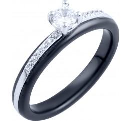 Серебряное кольцо SilverBreeze с керамикой (1885895) 18 размер