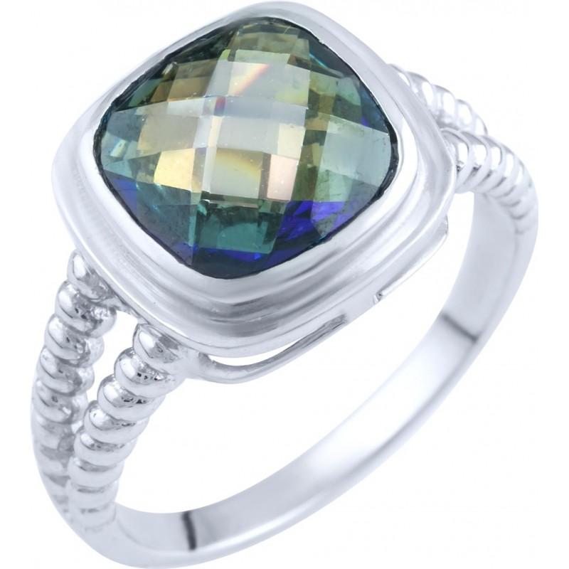 Серебряное кольцо SilverBreeze с натуральным мистик топазом (1891636) 17 размер