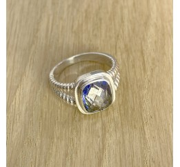Серебряное кольцо SilverBreeze с натуральным мистик топазом (1891643) 17.5 размер