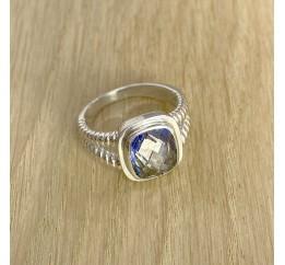 Серебряное кольцо SilverLine с натуральным мистик топазом (1891643) 17 размер