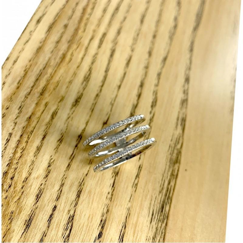 Серебряное кольцо SilverBreeze с керамикой (1903889) 16 размер