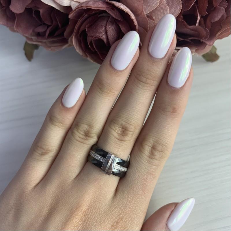 Серебряное кольцо SilverLine с керамикой (1903896) 17 размер