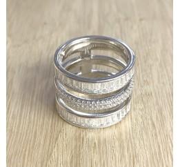 Серебряное кольцо SilverBreeze с фианитами (1905616) 17.5 размер