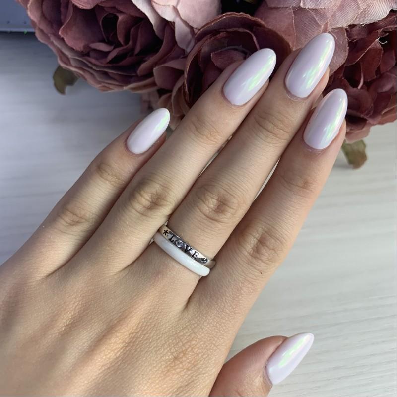 Серебряное кольцо SilverBreeze с керамикой (1908228) 17.5 размер