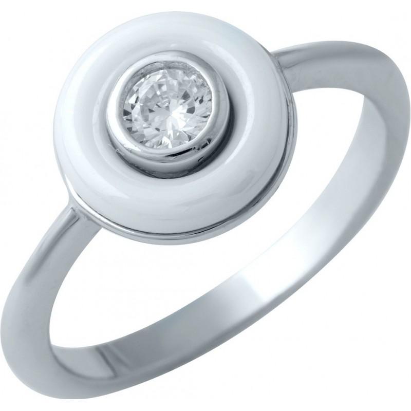 Серебряное кольцо SilverBreeze с , керамикой (1908334) 17 размер
