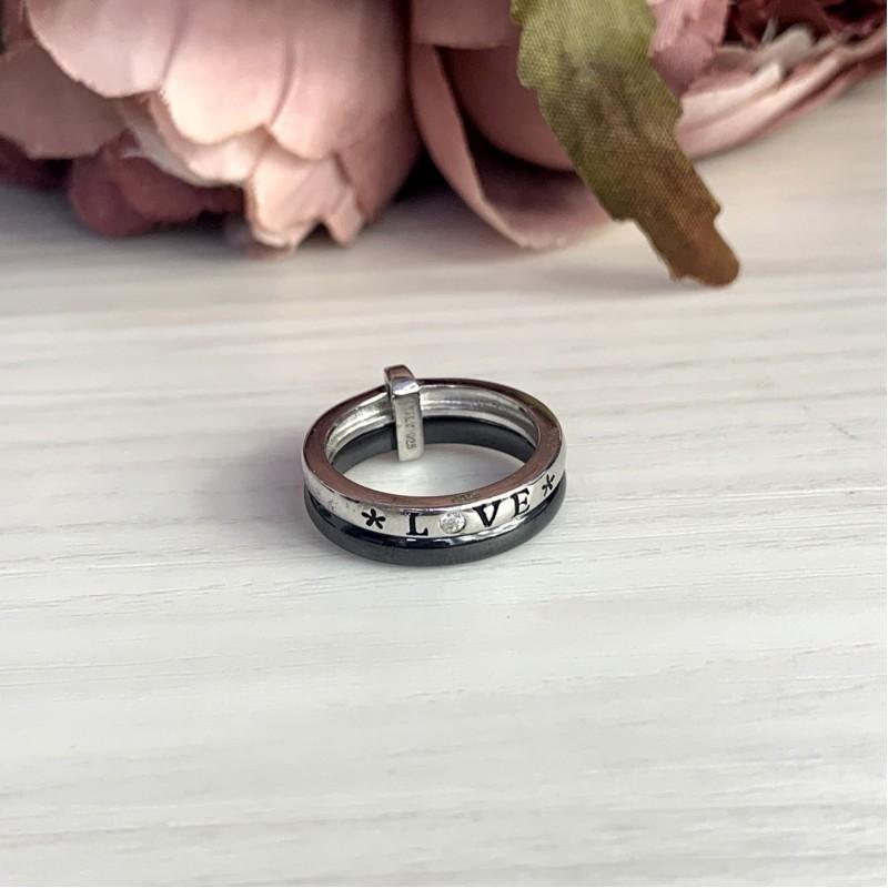 Серебряное кольцо SilverBreeze с керамикой (1908358) 18 размер