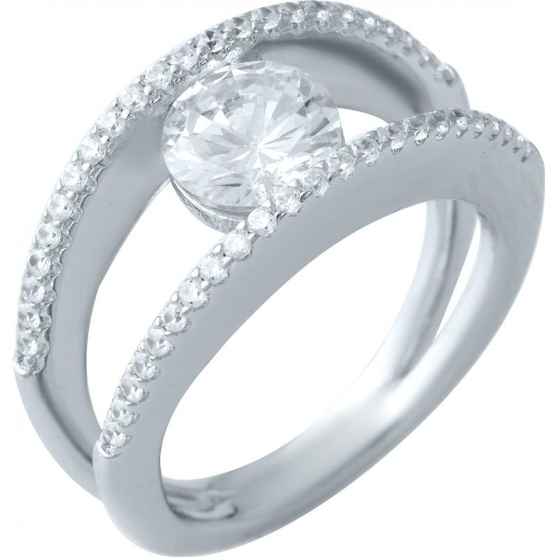 Серебряное кольцо SilverBreeze с фианитами (1908372) 17 размер