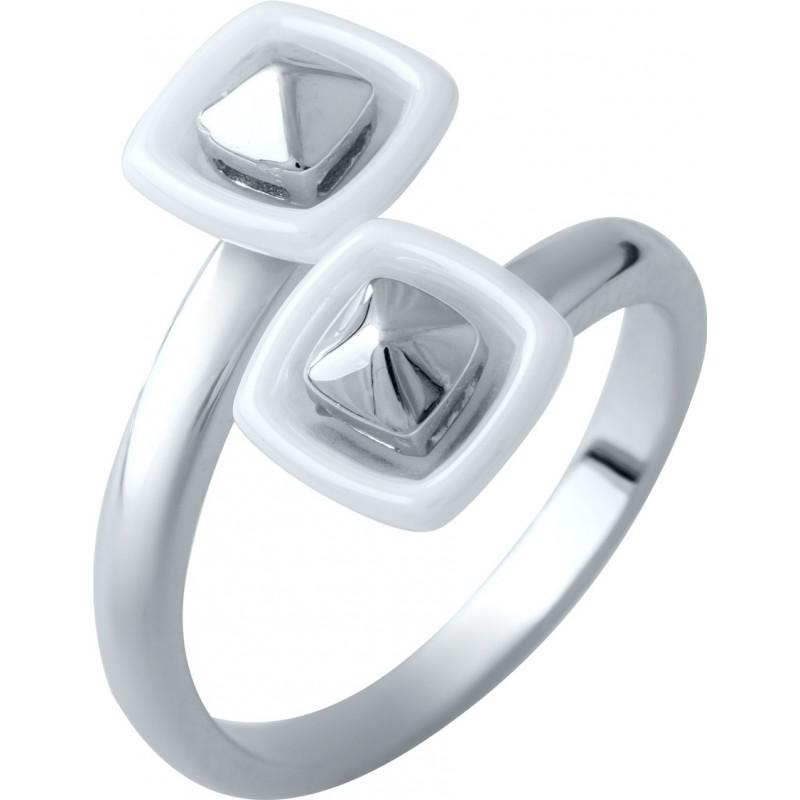 Серебряное кольцо SilverBreeze с керамикой (1908754) 17 размер