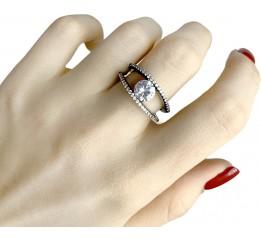 Серебряное кольцо SilverBreeze с фианитами (1909225) 16.5 размер