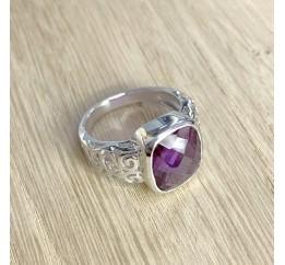 Серебряное кольцо SilverBreeze с олександритом (1911587) 17.5 размер