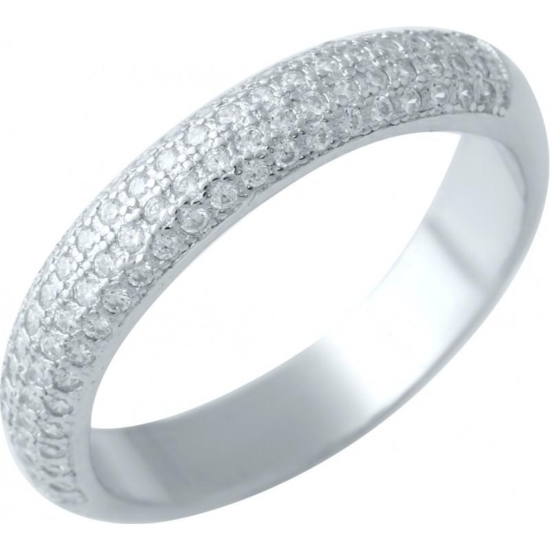 Серебряное кольцо SilverBreeze с фианитами (1914526) 18 размер