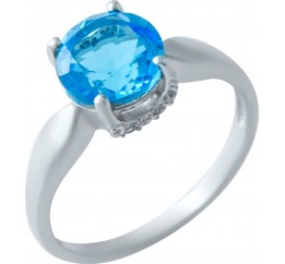Серебряное кольцо SilverBreeze с аквамарином nano (1917671) 17 размер