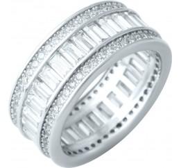 Серебряное кольцо SilverBreeze с фианитами (1918746) 18.5 размер