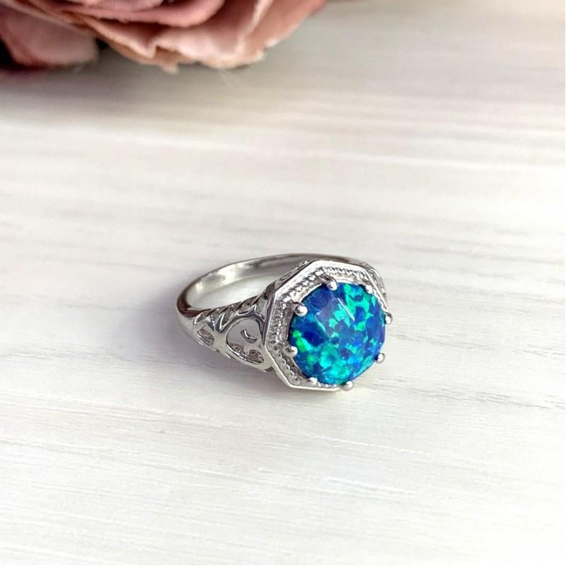 Серебряное кольцо SilverBreeze с опалом (1919811) 18 размер