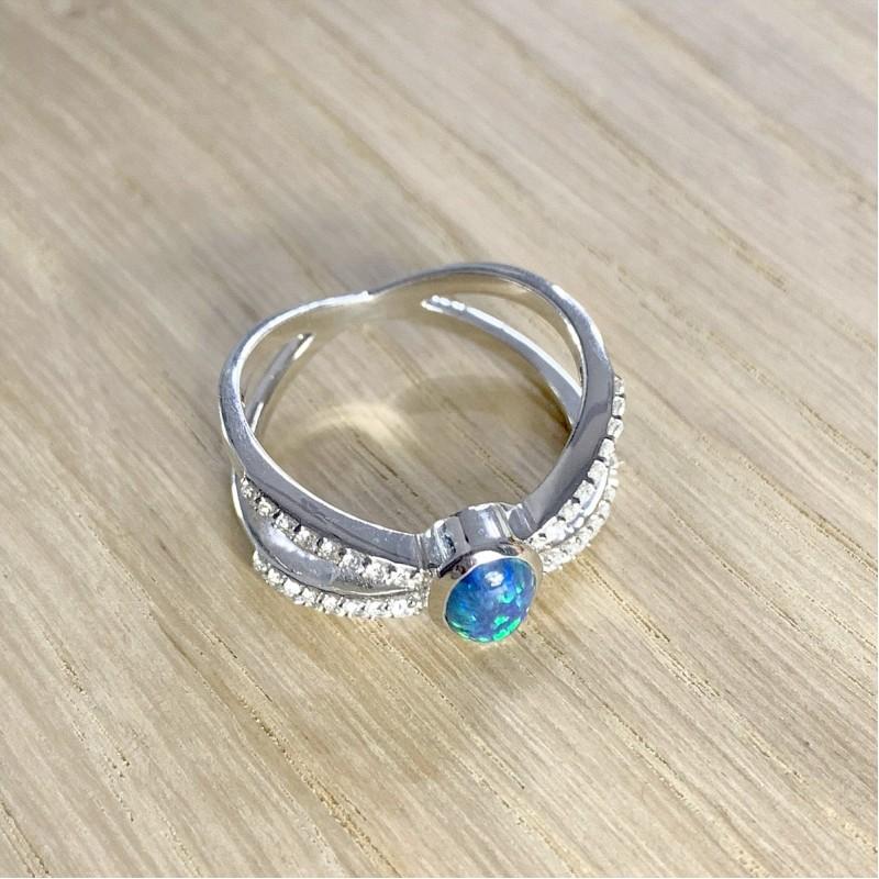 Серебряное кольцо SilverBreeze с опалом (1920251) 18 размер
