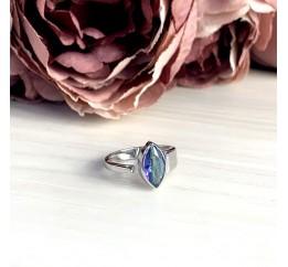 Серебряное кольцо SilverBreeze с натуральным мистик топазом (1921401) 18 размер
