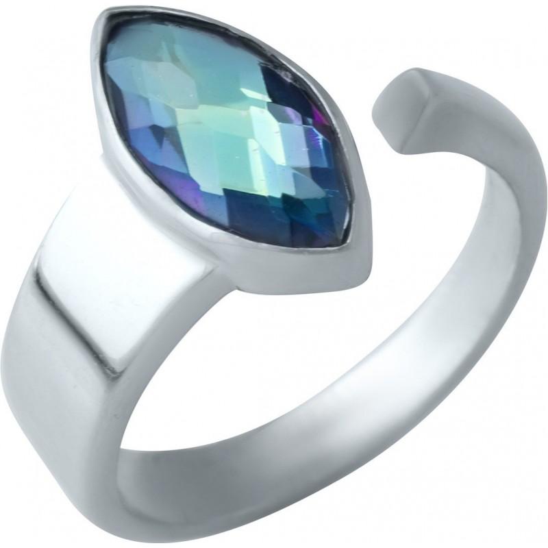 Серебряное кольцо SilverBreeze с натуральным мистик топазом (1921401) 17.5 размер