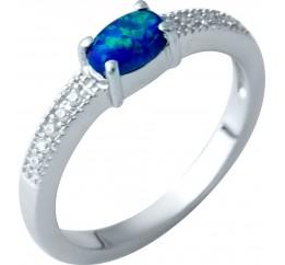 Серебряное кольцо SilverBreeze с опалом (1921715) 17 размер
