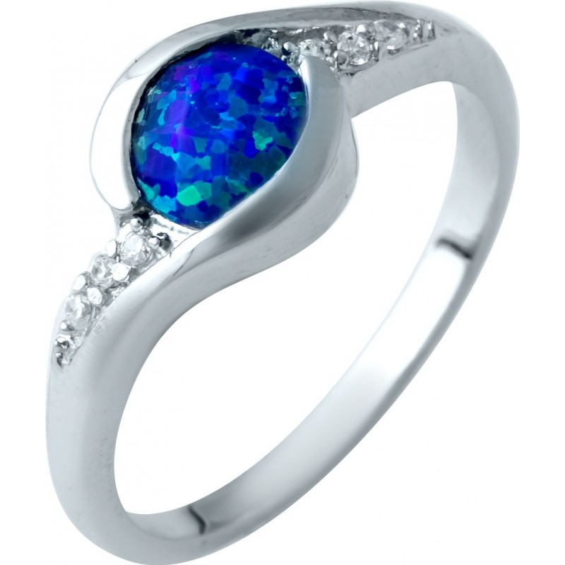 Серебряное кольцо SilverBreeze с опалом (1921906) 18 размер