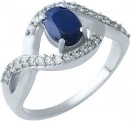 Серебряное кольцо SilverBreeze с натуральным сапфиром (1923962) 16.5 размер