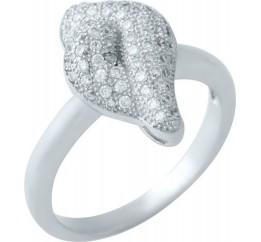 Серебряное кольцо SilverBreeze с фианитами (1924037) 18 размер