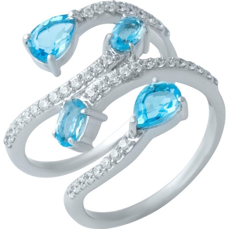 Серебряное кольцо SilverBreeze с аквамарином nano (1925157) 18.5 размер