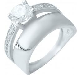 Серебряное кольцо SilverBreeze с фианитами (1926673) 18 размер