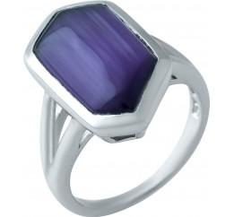 Серебряное кольцо SilverLine с кошачим глазом (1927656) 17.5 размер