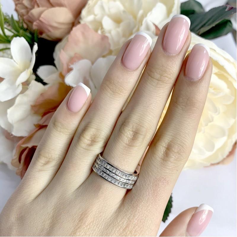 Серебряное кольцо SilverBreeze с фианитами (1929483) 18 размер