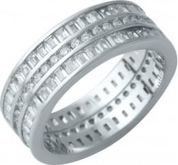 Серебряное кольцо SilverBreeze с фианитами (1929483) 17 размер