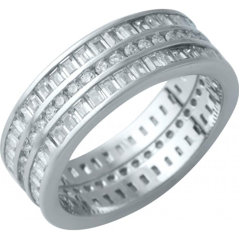 Серебряное кольцо SilverBreeze с фианитами (1929483) 16.5 размер