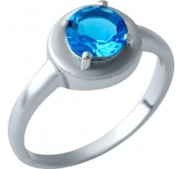 Серебряное кольцо SilverBreeze с аквамарином nano (1929520) 17 размер