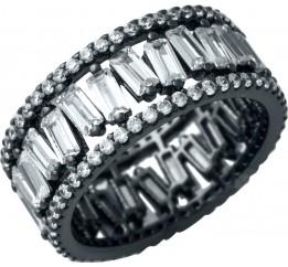 Серебряное кольцо SilverBreeze с фианитами (1929735) 17 размер