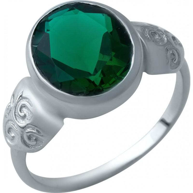 Серебряное кольцо SilverBreeze с изумрудом nano (1932445) 19 размер