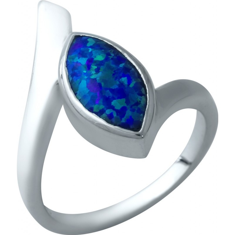 Серебряное кольцо SilverBreeze с опалом (1932506) 17.5 размер