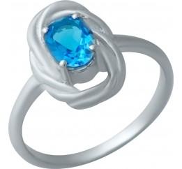 Серебряное кольцо SilverBreeze с аквамарином nano (1932568) 18 размер