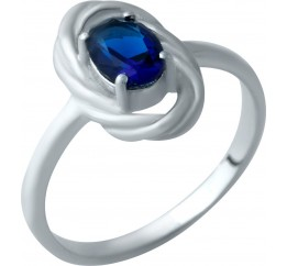 Серебряное кольцо SilverBreeze с сапфиром nano (1932728) 17 размер