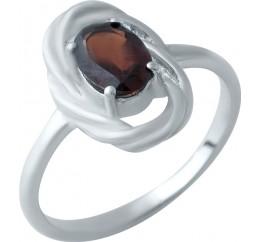 Серебряное кольцо SilverBreeze с натуральным гранатом (1932780) 18 размер