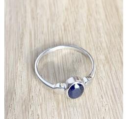 Серебряное кольцо SilverBreeze с натуральным сапфиром (1933091) 17 размер