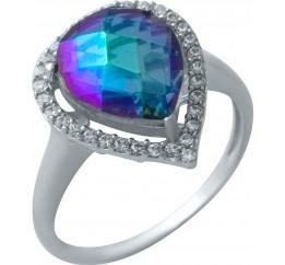 Серебряное кольцо SilverBreeze с натуральным мистик топазом (1933794) 18.5 размер