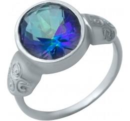 Серебряное кольцо SilverBreeze с натуральным мистик топазом (1933831) 17 размер