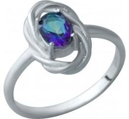 Серебряное кольцо SilverBreeze с натуральным мистик топазом (1933879) 17 размер