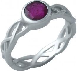 Серебряное кольцо SilverBreeze с натуральным рубином (1933947) 17 размер